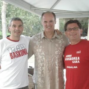 Riccardo y Marco con Dusko